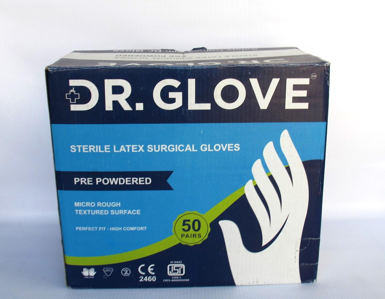 دستکش جراحی استریل بدون پودر سایز شش و نیم ۶/۵