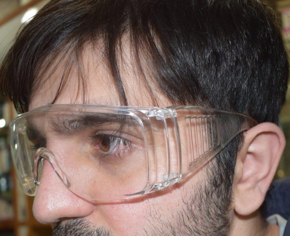 عینک محافظ چشم پزشکی مدل O100 پنجاه عددی