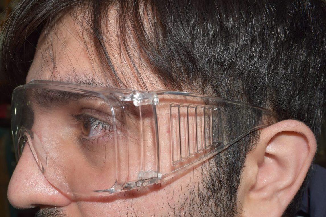 عینک محافظ چشم پزشکی آزمایشگاهی ۲ عددی