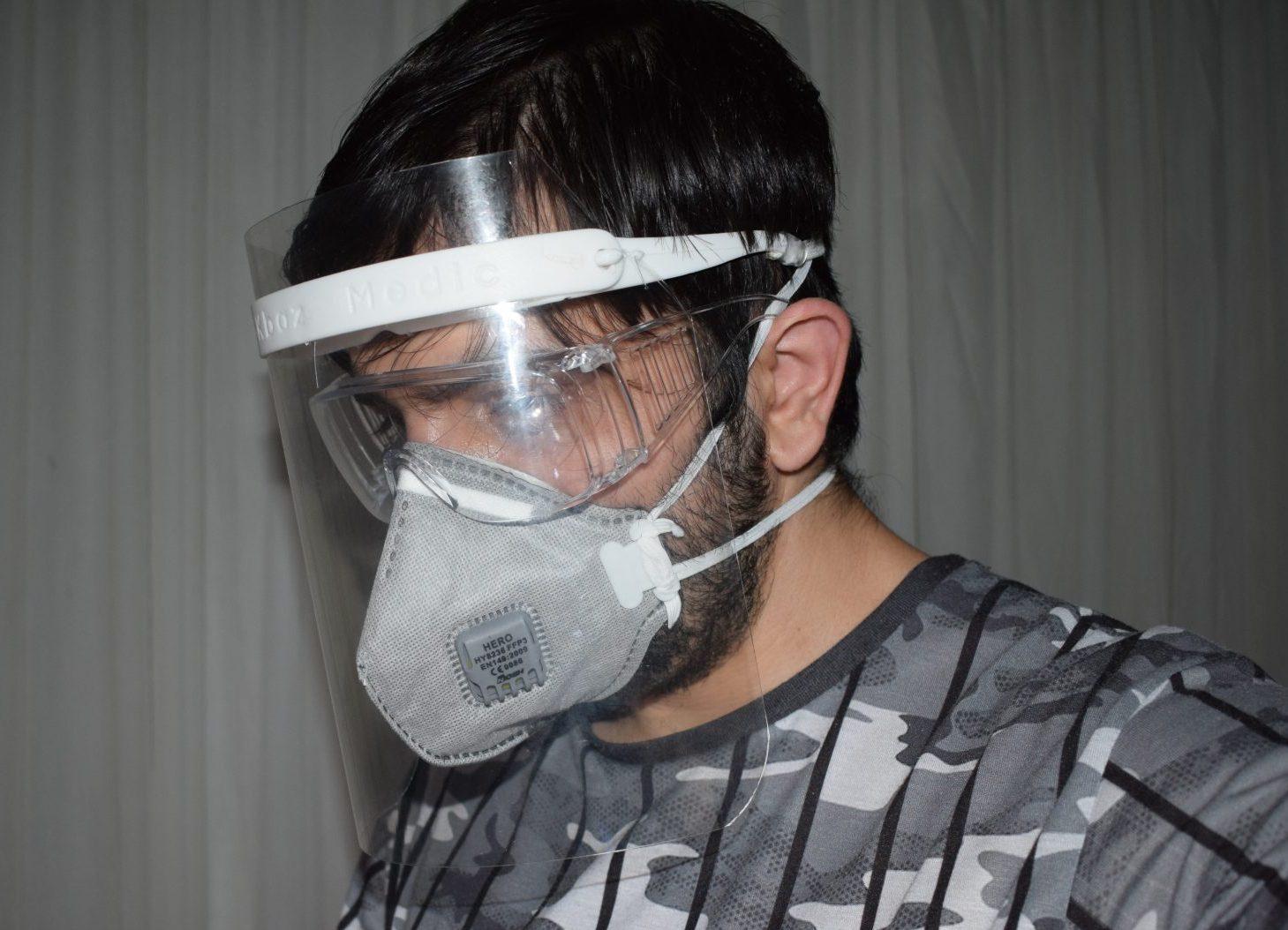 ماسک محافظ صورت پزشکی