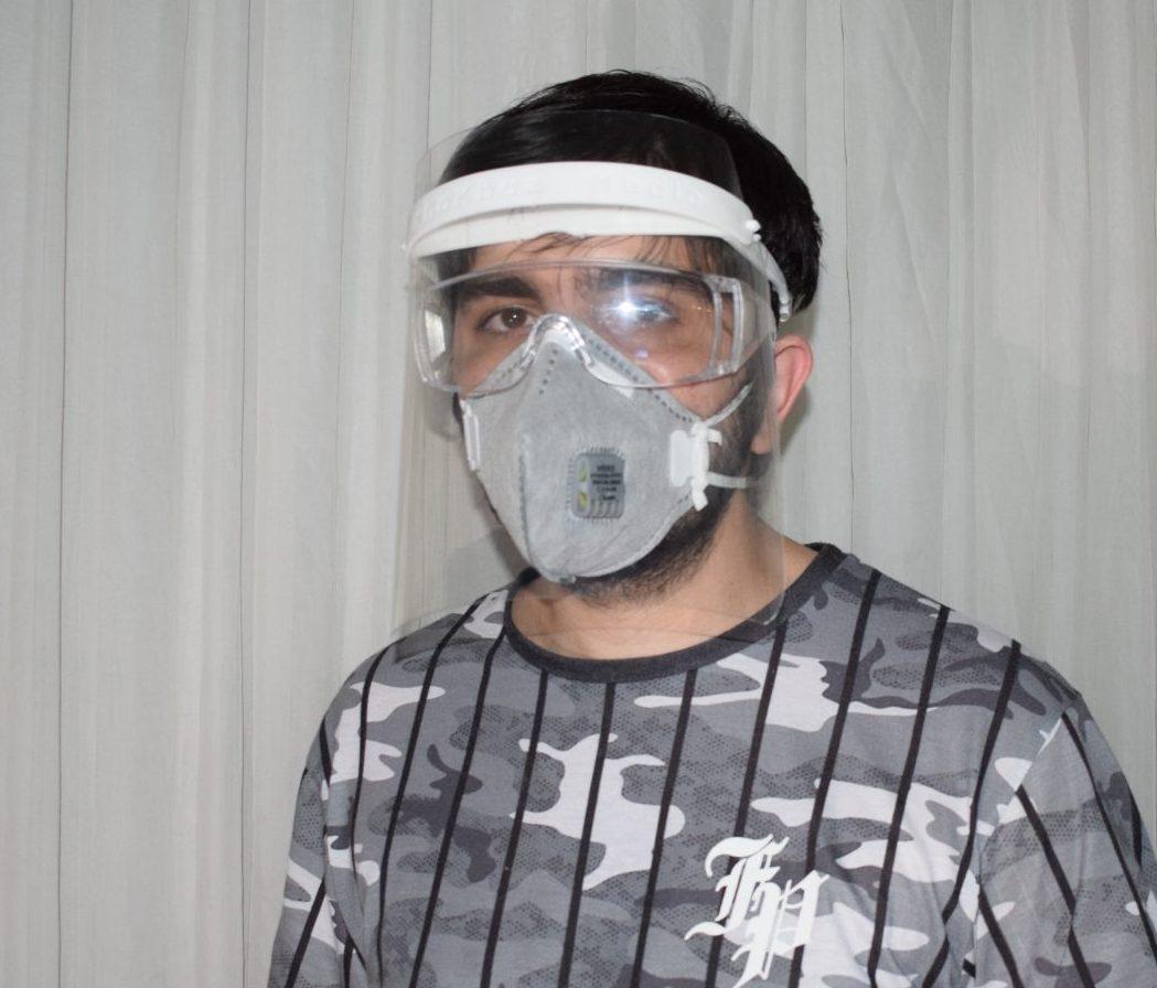 شیلد محافظ صورت پزشکی ۱۰۰ تایی