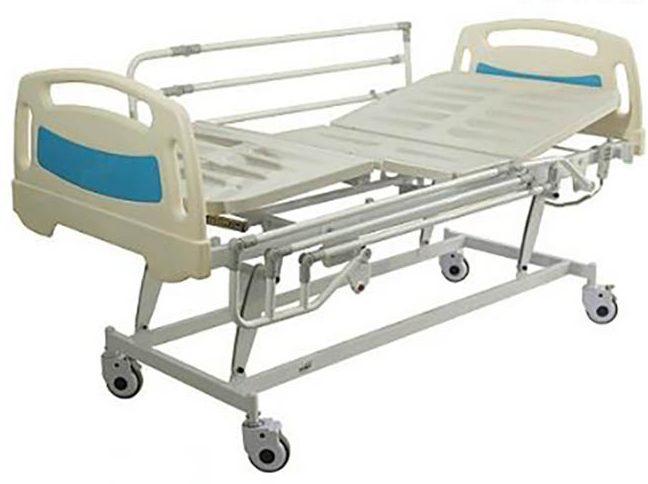 تخت بیمارستانی برقی سه شکن مدل s45